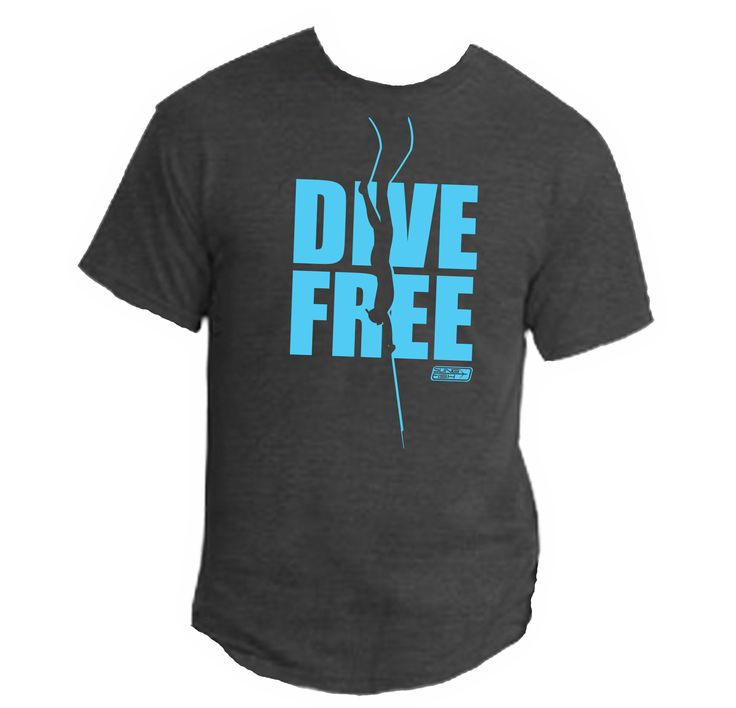 Our Slingfish DIVE FREE tee has a simple but bold statement. We believe  that breath