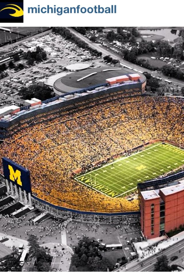 The Big House:  I was born a Michigan fan and I have been a season ticket holder since my freshman year of college (1991!)  Love autumn, love football, and always.... GO BLUE!