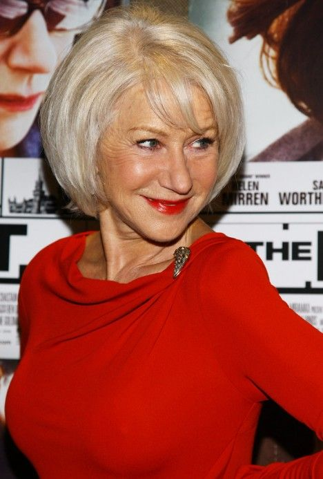 Short Straight Bob Hairstyles For Older Women Over 60