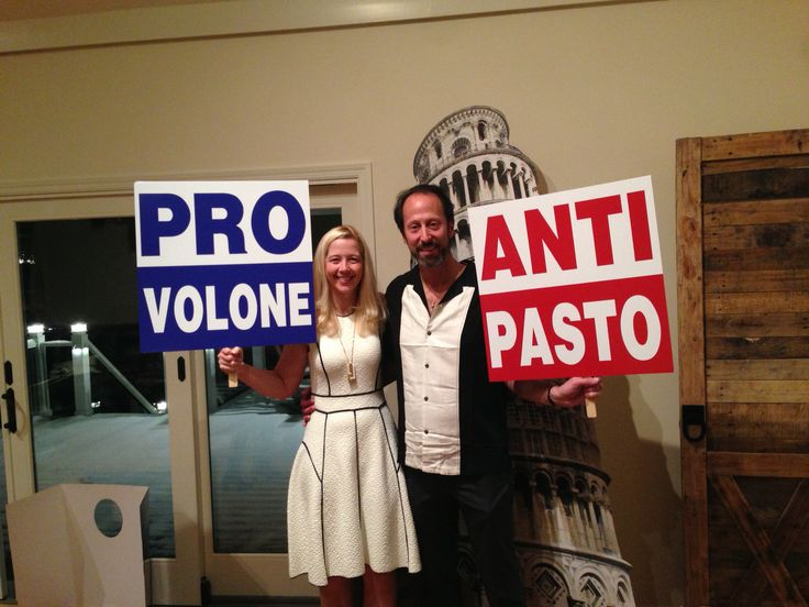 Adding a little fun and politics to an Italian themed party.                                                                                                                                                                                 More