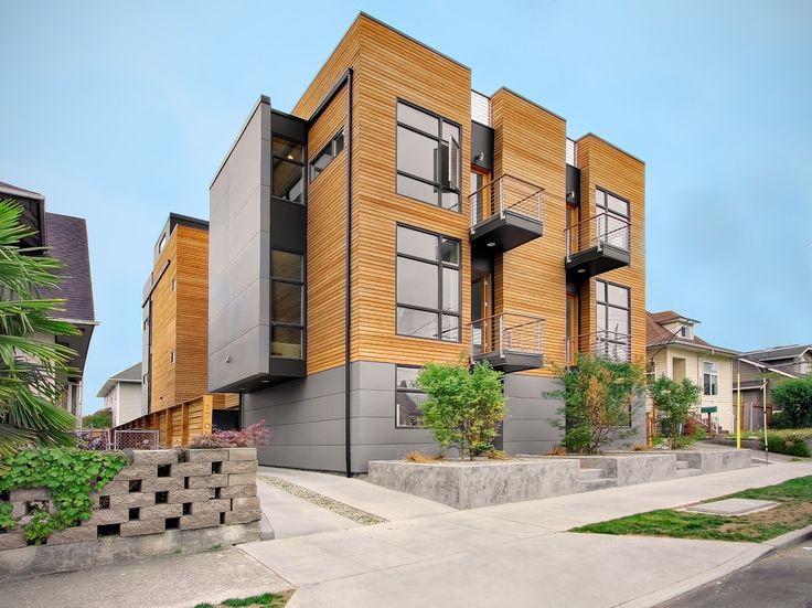 21 contemporary exterior design inspiration small homes for Modern townhouse exterior
