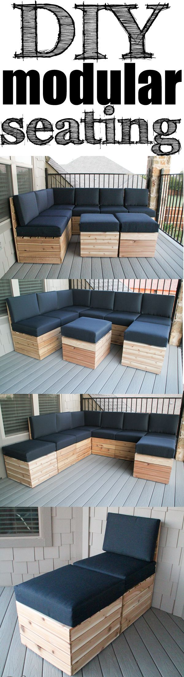 DIY Modular Outdoor Seating. Deck Furniture LayoutSectional Patio ...