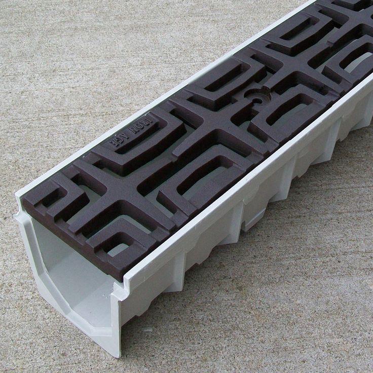 Top 25 best drainage grates ideas on pinterest drainage for Landscape channel drain