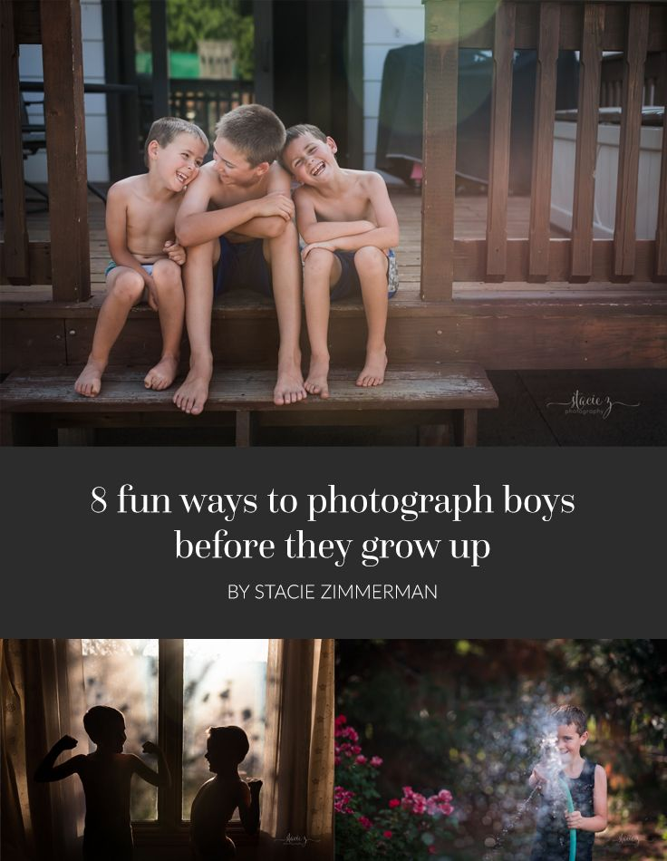 "Since I have all boys, I often get the question, ""How does one get BOYS to look comfortable in front of the camera?"" So I put together some tips for you!"