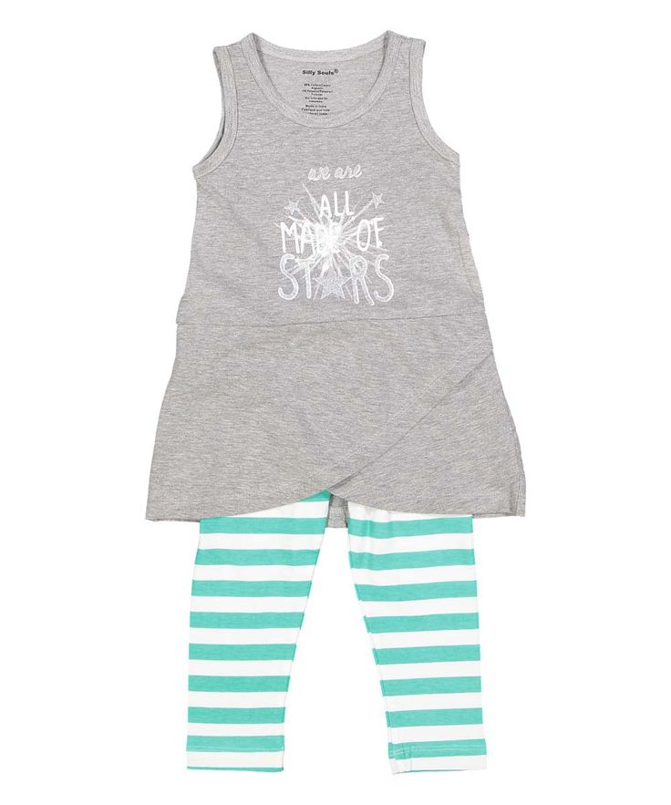 We are All Made of Stars, infant, toddler and girl's sundress and legging set in…