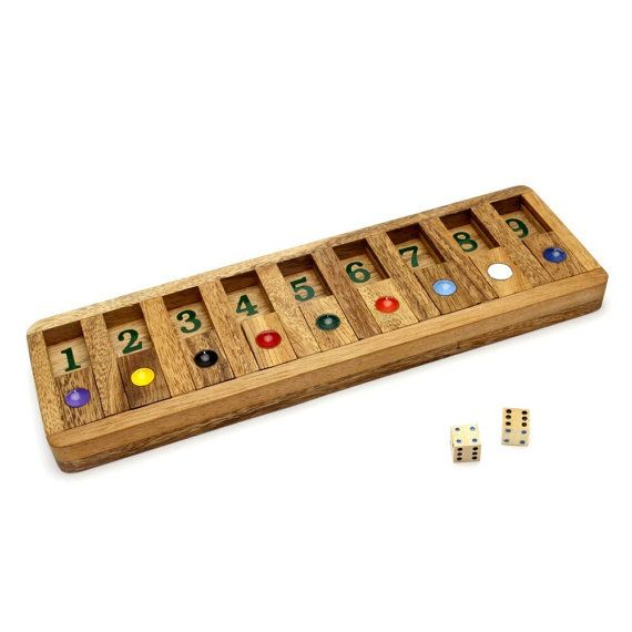 Wooden Toy : Shut the Box Slide - The Organic Natural Puzzle Game Play for Baby and Kids