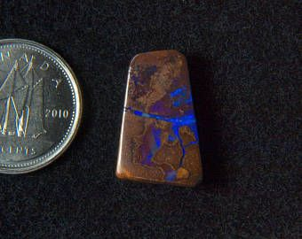 Beautiful 8.13CT Australia polished boulder opal cabochon