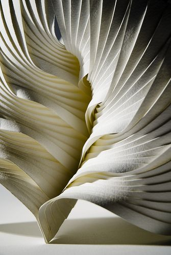 Part of a series of small paper sculptures using hand-pleated paper components to create modular forms.   www.richardsweeney.co.uk