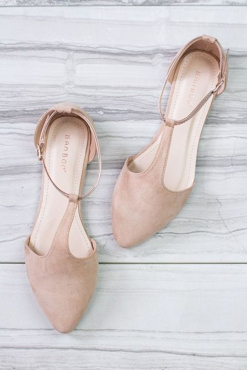 Perfect neutral shoes for the bride to-be wanting to be comfortable all night long on her special day and what's best is it goes with the neutral tone theme