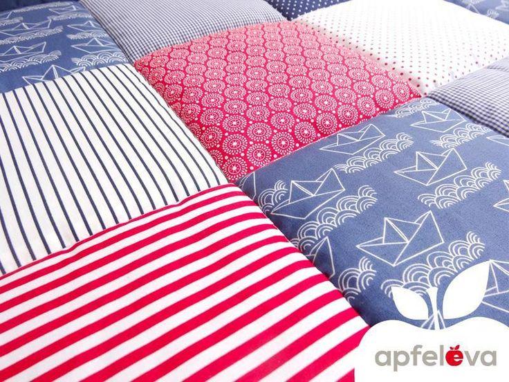 AHOI !!! maritime Krabbeldecke - Babydecke von apfeleva auf DaWanda.com