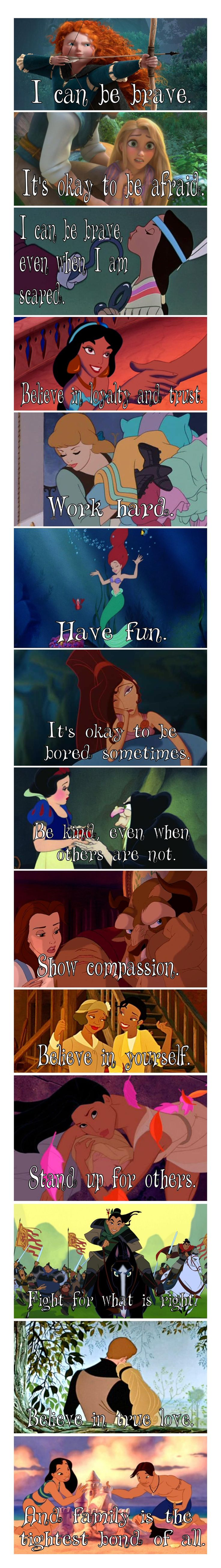 Lessons learned from Disney Cartoons
