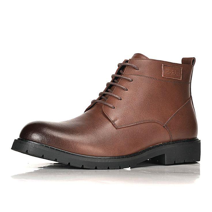 Vintage Designer Fur Winter Boots For Men New Tools Ankle Botas Shoes Black Brown