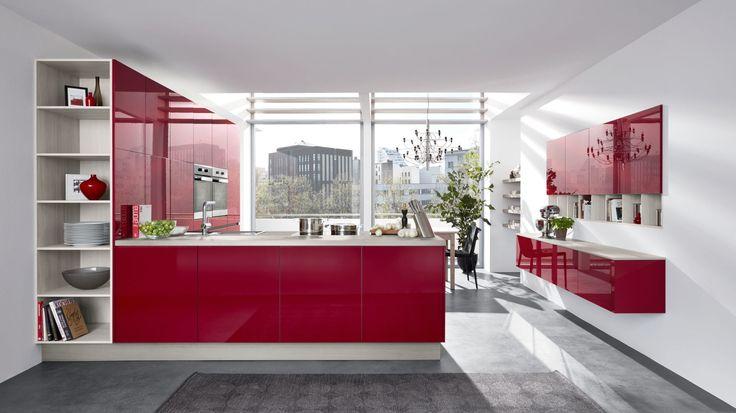 die besten 25 k che rot hochglanz ideen auf pinterest hintergrundfliese rote wand k che und. Black Bedroom Furniture Sets. Home Design Ideas