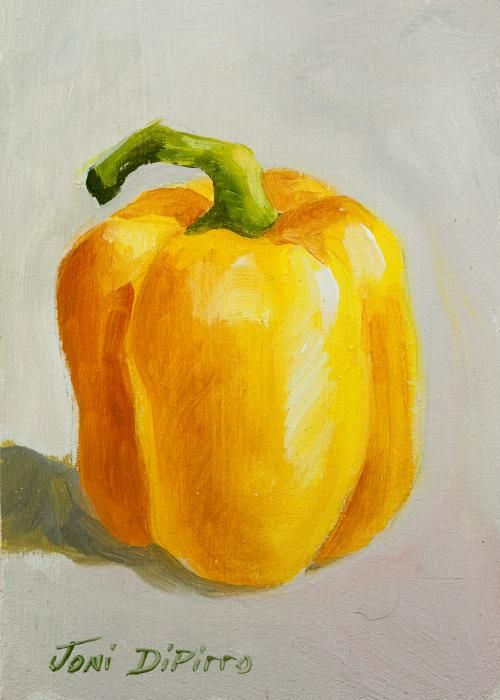 DiPirro paintings | Yellow Bell Pepper Painting by Joni Dipirro - Yellow Bell Pepper Fine ...