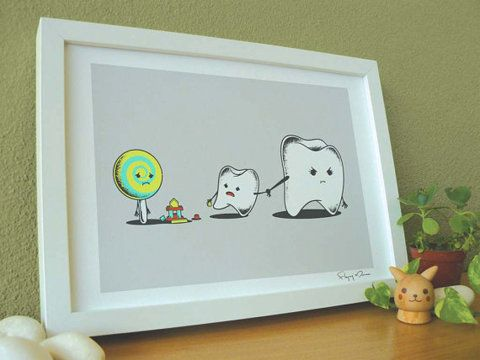 bad friend: Bad Friends, Kids Bathroom, Offices, Candy, Art Prints, Dentists, Funny Stuff, So Sad, Cute Illustrations