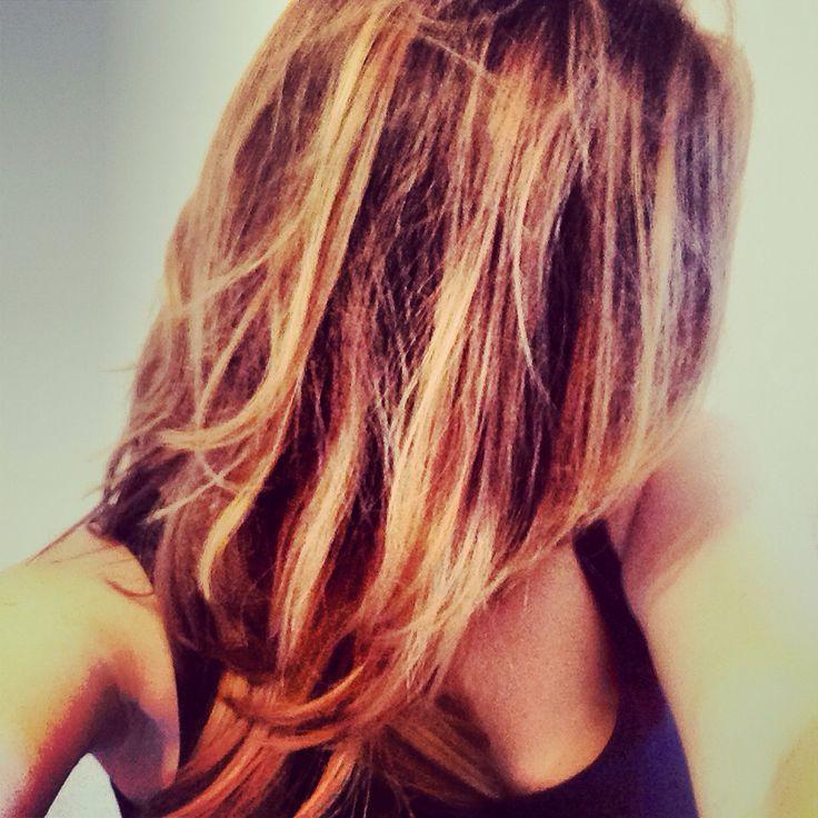 Californian hair- ombré - brown undertone and blond dip ...