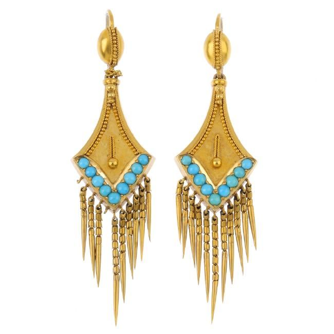 www.liveauctioneers.com item 52002509_a-set-of-mid-victorian-18ct-gold-turquoise-jewellery