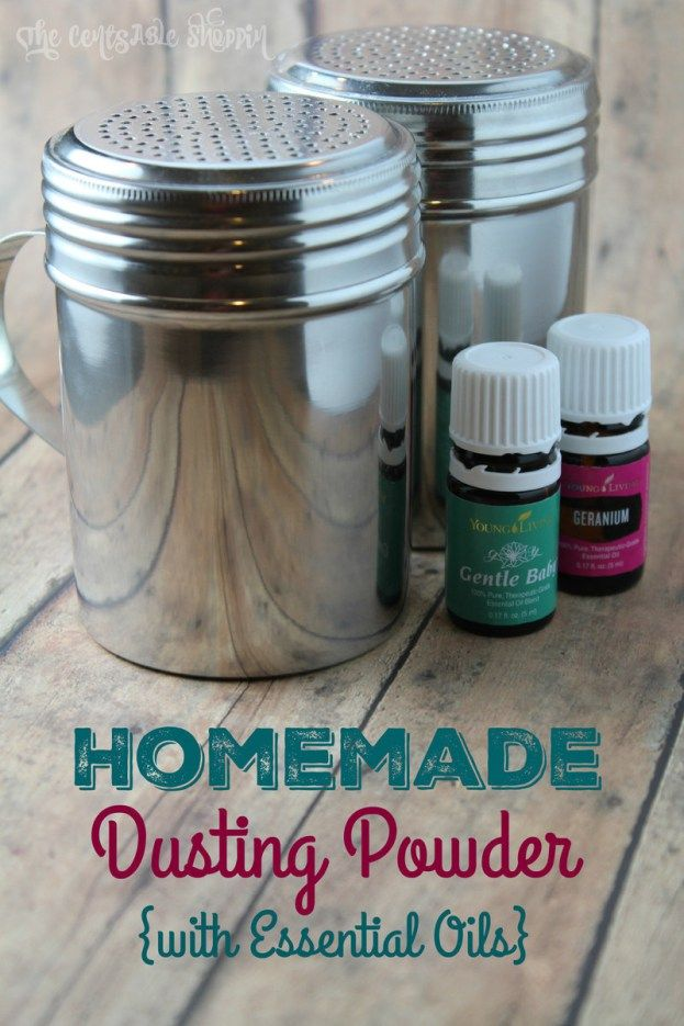 Homemade Dusting Powder with Essential Oils