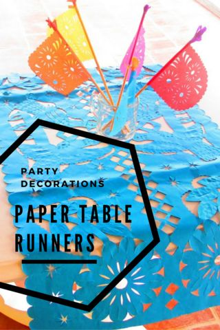 Mexican Party Decorations, Papel Picado Table Runners, Fiesta Party Supplies