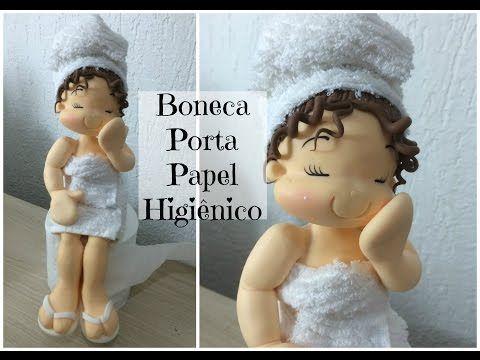 (DIY) PASSO A PASSO BONECA PORTA PAPEL HIGIÊNICO - Especial Dia das Mães #17 - YouTube