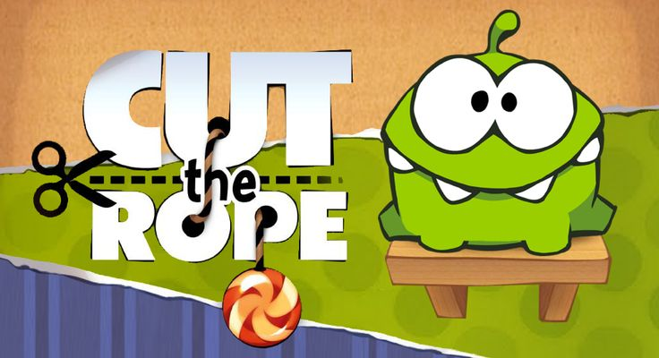 Cut the rope. Created by: ZeptoLab. The purpose of the game is to cut the rope that is hanging with a candy to feed the frog. What the game is teaching is to be precise and think before doing something because to cut the rope you need to think if it will work or not, if not, you lose. subject area: physics. topic: 4 strategy: 6 coordination: 3 teamwork:  0 thinking: 6 story: 2