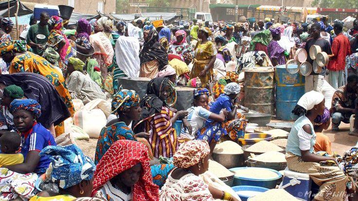 Women working the market in Djenne, Mali.  Mark joins Cherie Blair Foundation For Womens Mentoring.