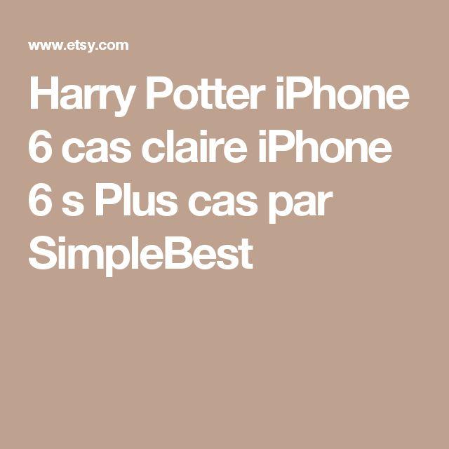 Harry Potter iPhone 6 cas claire iPhone 6 s Plus cas par SimpleBest