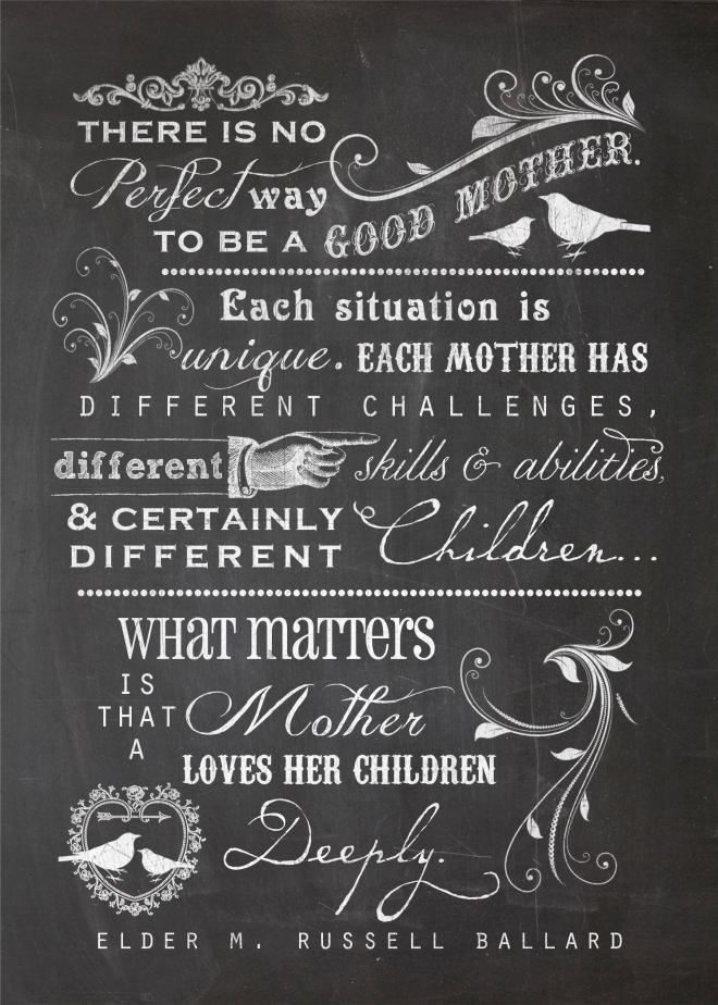 Free Mother's Day Quote Printable from Summertime Designs