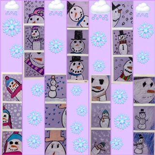 Kim & Karen: 2 Soul Sisters (Art Education Blog): Make Mine a Triple Snowman!