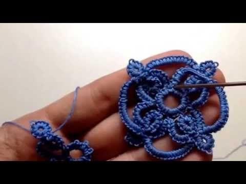 Needle tatting: Celtic ring [Orecchini o ciondolo a chiacchierino stile celtico Rosaantico] - YouTube