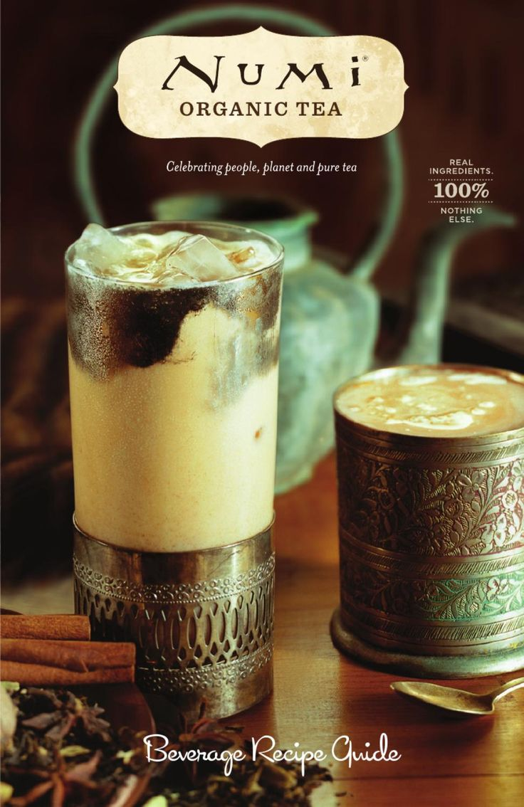 Numi Organic Tea Recipe Beverage Booklet  Brew your favorite Numi Organic Teas into restuarant quality beverages and cocktails!