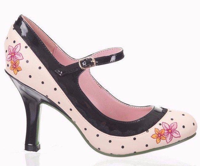 Rose Pink Floral Polka Dot Shoe – Pretty Kitty Fashion