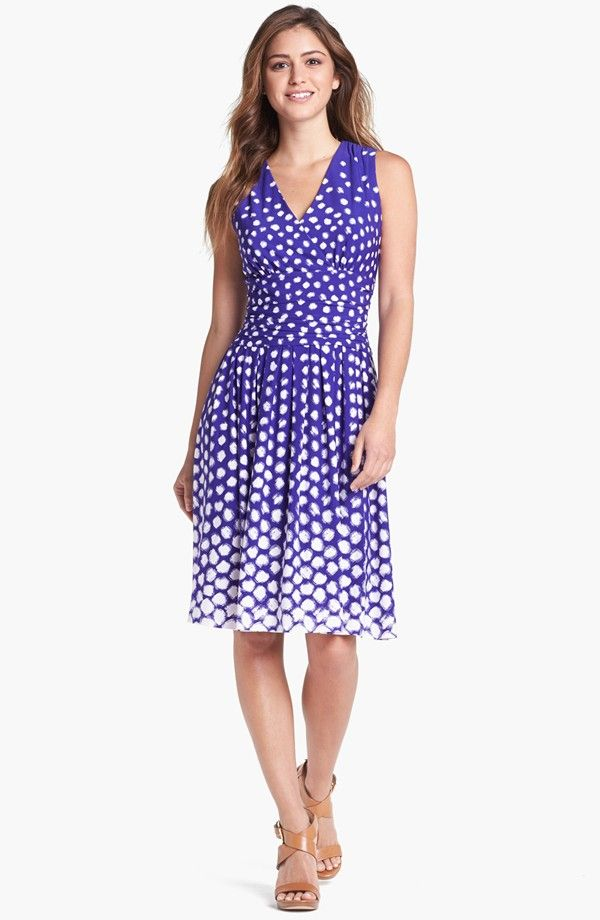 Eliza J polka dots dress