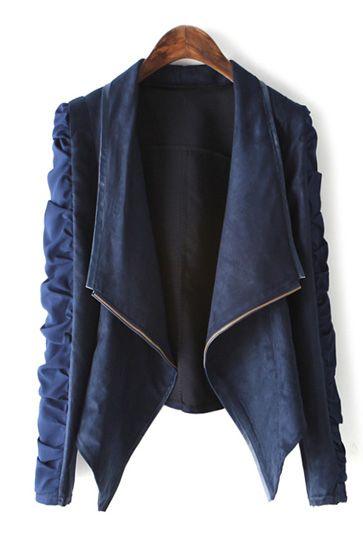 Belt cardigan long sleeve short coat
