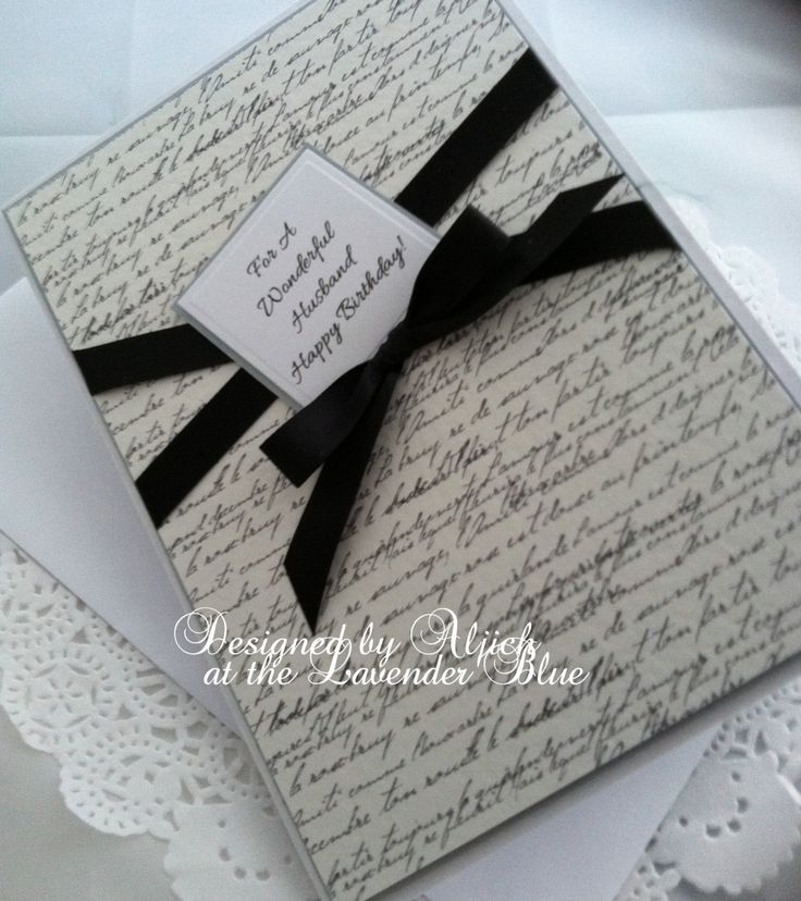 Husband Birthday Card, Personalized, Handmade by thelavenderblue on Etsy