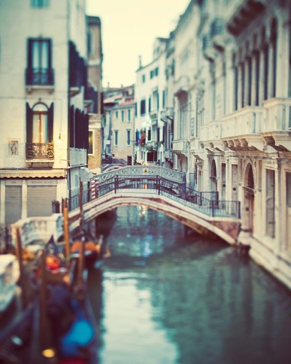 Venice Photography, Venice Canal, Italy, Water, City, Bridge, Italian Wall Decor - Blue Venice by EyePoetryPhotography on Etsy https://www.etsy.com/listing/69123605/venice-photography-venice-canal-italy