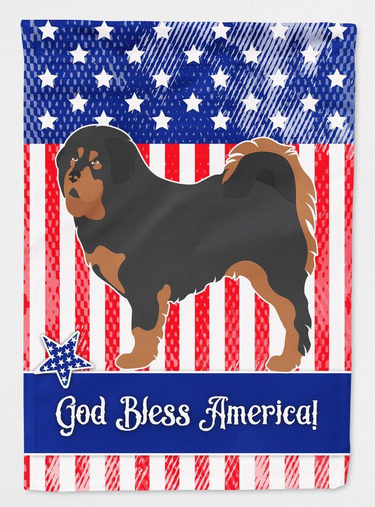 Tibetan Mastiff American Flag Garden Size BB8407GF