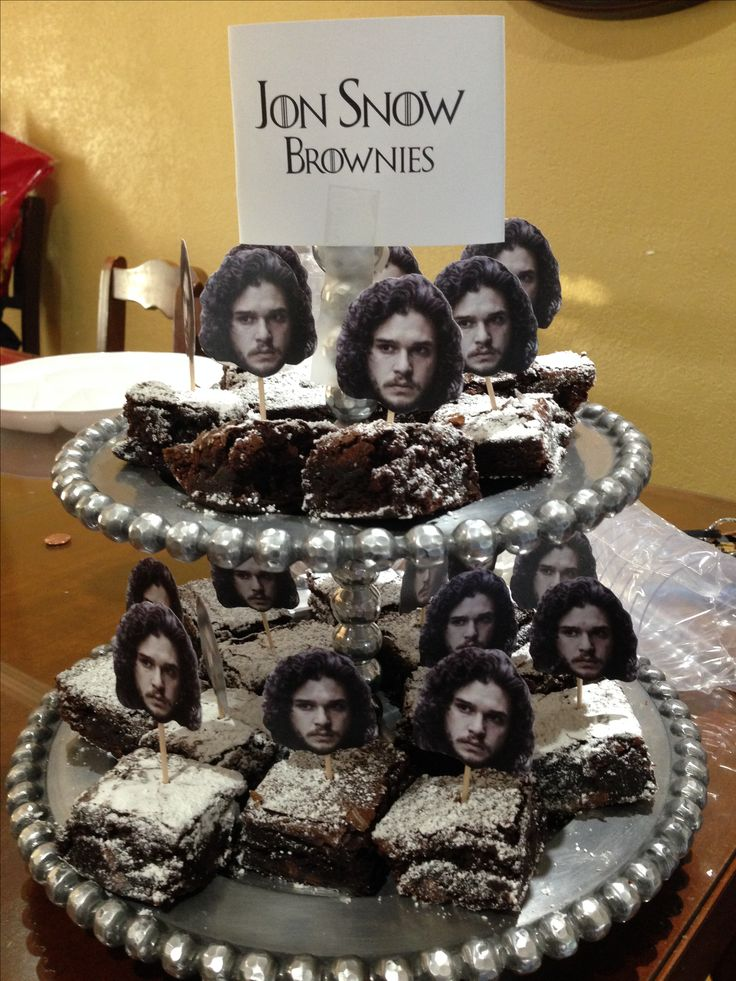 Jon Snow Brownies. Game of Thrones Party.