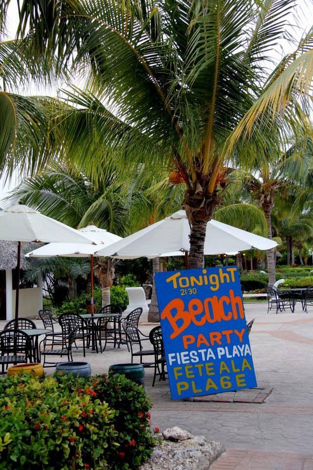 Melia Las Dunas resort - beach parties on the amazing, white sandy beaches