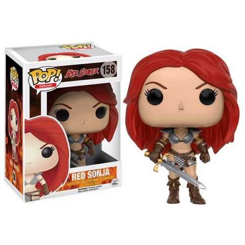 Heroes Pop! Vinyl Figure Red Sonja [Red Sonja] Strengthen your Pop! collection with Red Sonja! Red Sonja comes with her scale armor bikini and sword! Collect the She-Devil with a Sword this fall!