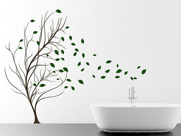 Perfect Bl tter Baum im Wind