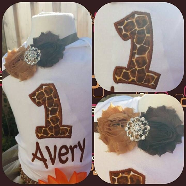 giraffe with number and name with matching headband shirt by AMcutetutuboutique on Etsy https://www.etsy.com/listing/166837363/giraffe-with-number-and-name-with