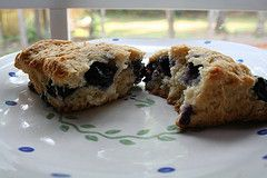 Blueberry Yogurt Scones - easy and really good