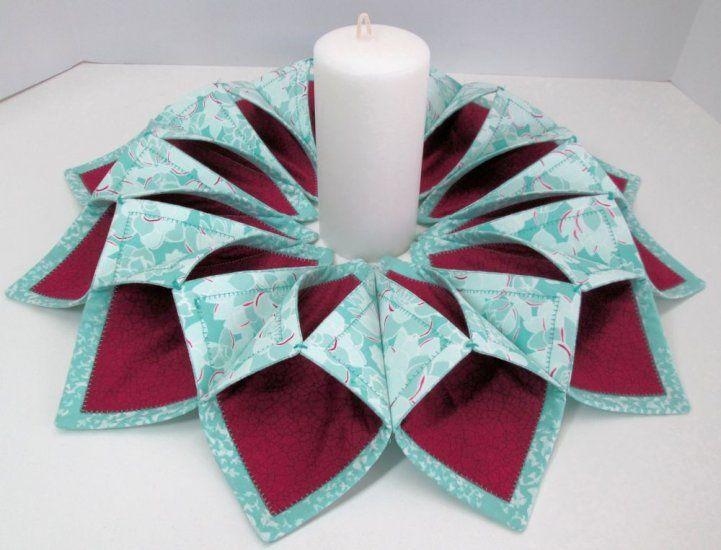 Canyon Fold N Stitch Wreath Kit