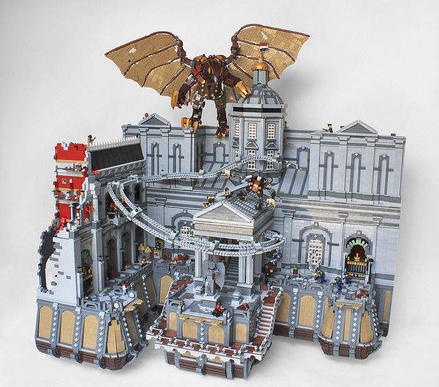 Bank of the Prophet Full View From Bioshock Infinite's floating city of Columbia by Imagine Rigney #Lego