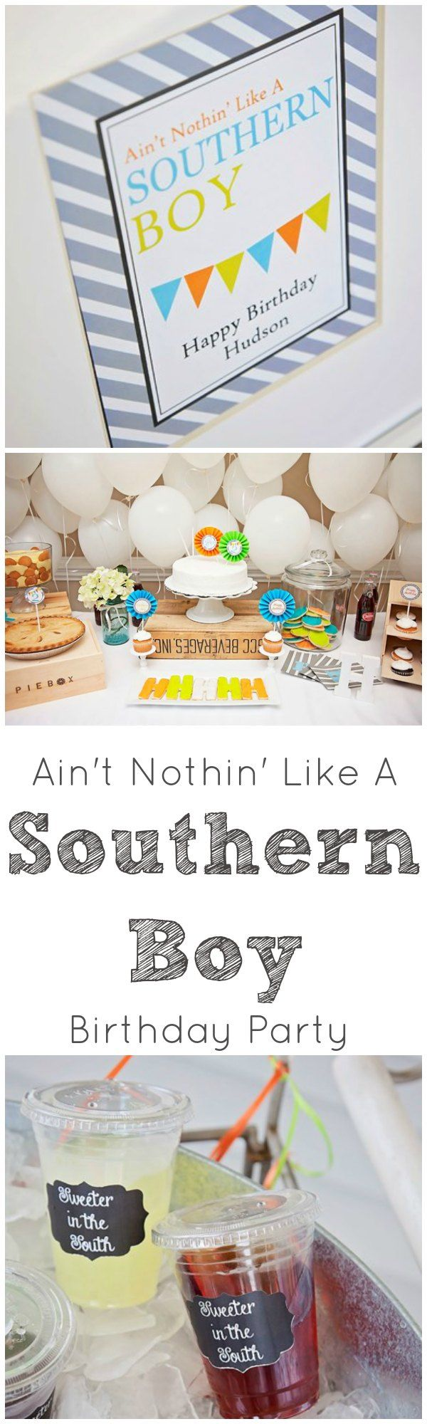 Ain't nothin' in the world like a southern boy. Cutest party theme for a little southern gentleman! <3