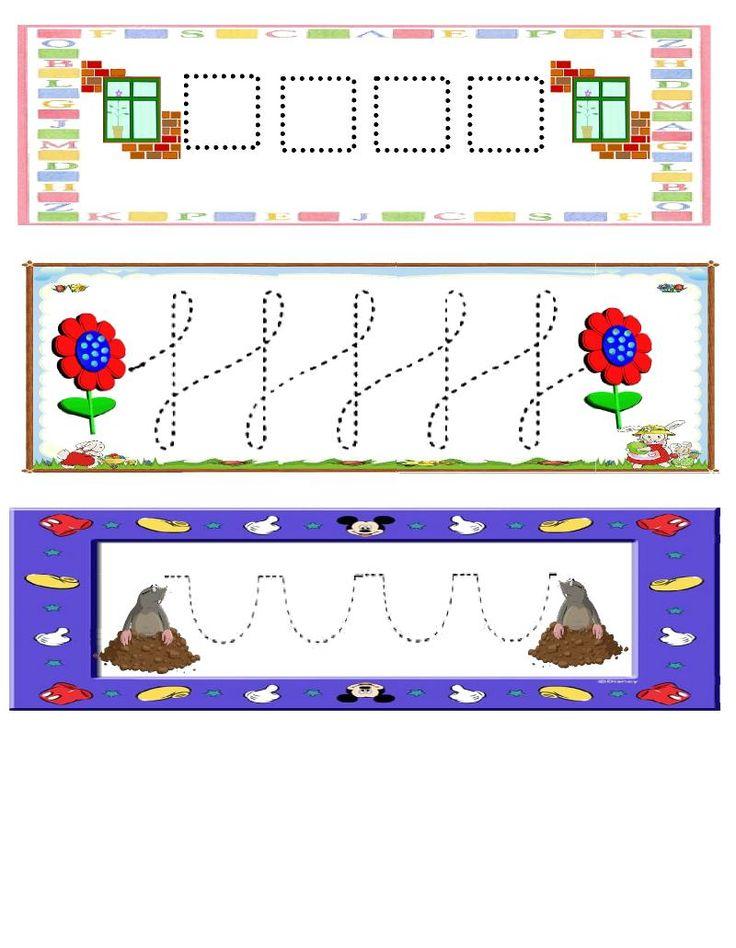 Fichas de trazos para repasar Fichas sencillas con trazos básicos para trabajar la grafomotricidad en Educación Infantil. Fichas de trazos