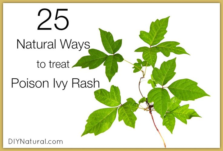 25 Natural Ways to Deal With Poison Ivy Rash... because I'm sure I'll need this before the year is over.