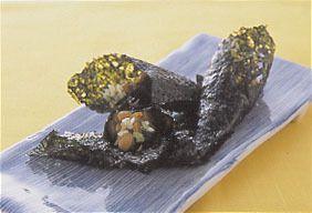 納豆キムチののり巻き