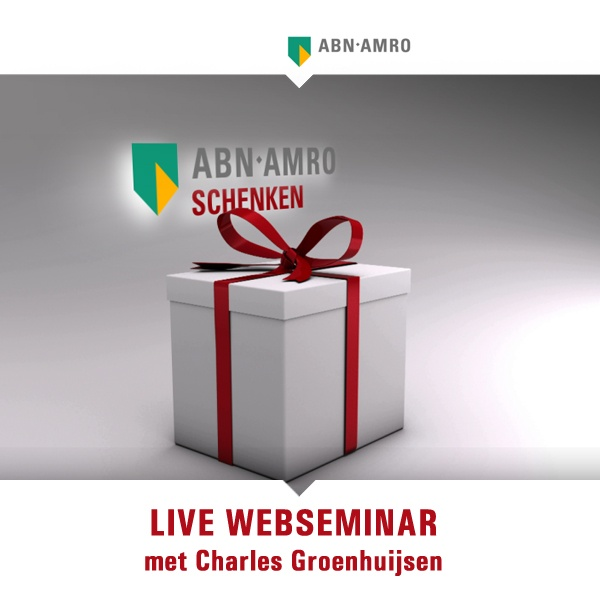 Hosted by the former news anchor, Charles Groenhuijsen we facilitated the live webseminar on donating money. Not only discussed on rules and regulations by Gordon Doull (estate planner ABN AMRO MeesPierson), but also the social aspects by  Iteke Weeda (sociologist).